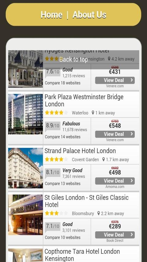 Travel Deals Finder- screenshot