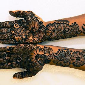 mehandi by Amit Kumar - People Body Art/Tattoos ( mehandi, pwchand, herbal tattoo, hands, body part, design )