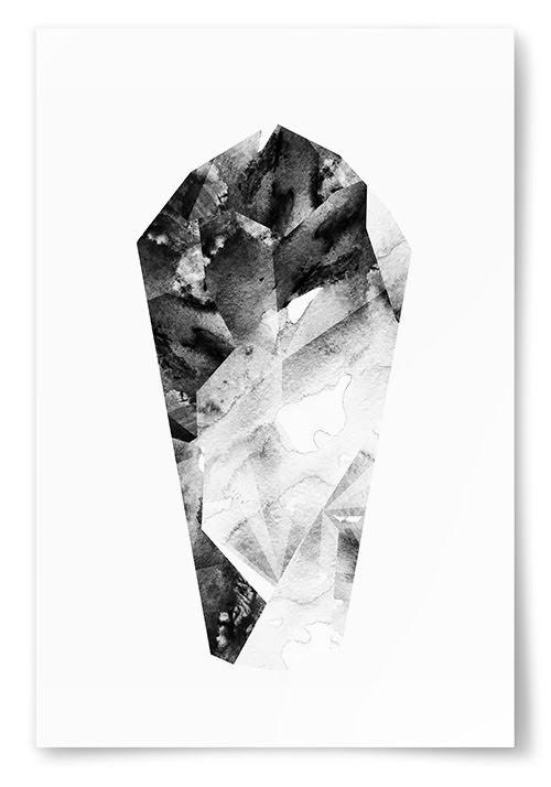 Poster Svartvit Kristall No2