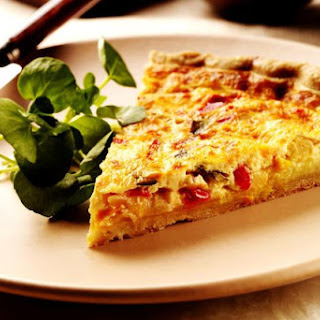 Roasted Vegetable Quiche.