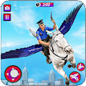 Flying Horse Police Chase : US Police Horse Games icon