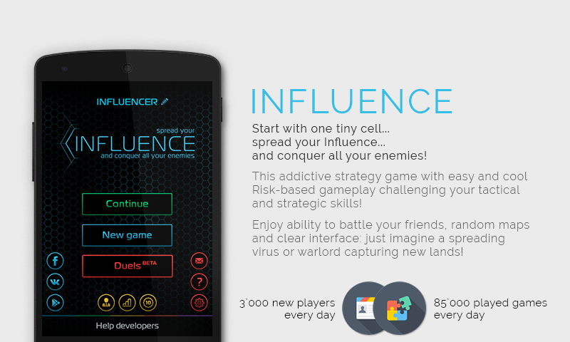 #1. Influence (Android)