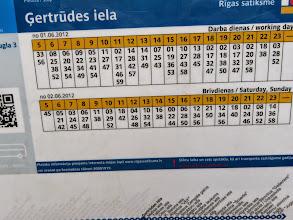 Photo: Bus schedule
