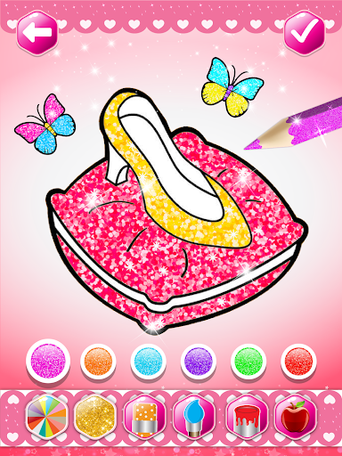 Glitter beauty coloring and drawing screenshot 10