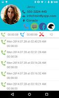 Screenshot of mintly: Making Caller ID fun
