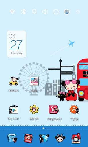 Pucca in London Launcher Theme