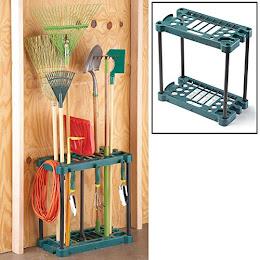 Organizator de garaj cu 20 de compartimente pentru unelte de gradinarit