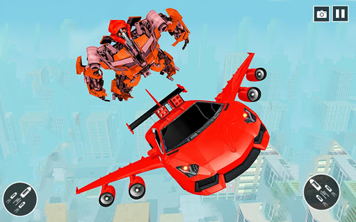 Flying Car- Super Robot Transformation Simulator apkpoly screenshots 1