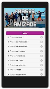 Frases de Amizade Em Português screenshot 0
