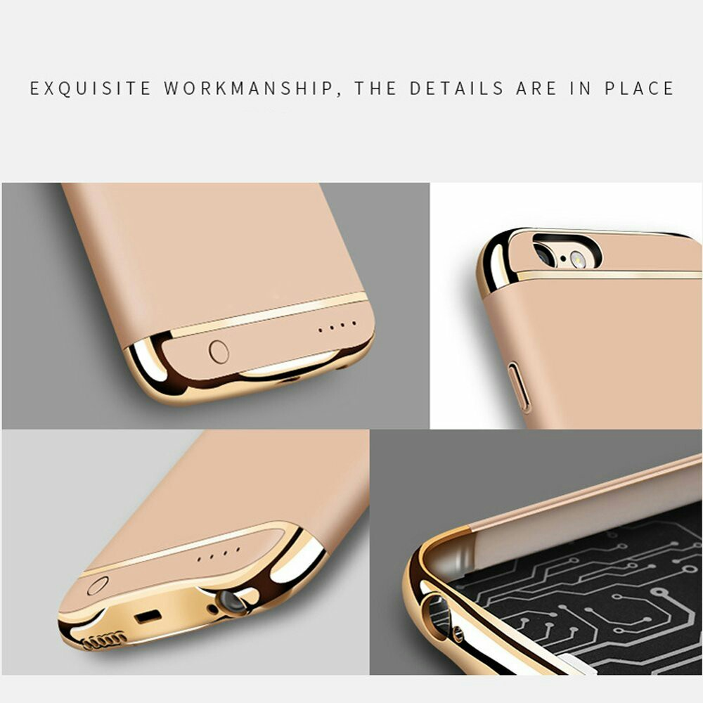 Battery Case for iphone, Ultra thin Extended Rechargeable Protective Protable Slim Case with 4000mAh Capacity / Fast Chargeing Power Bank