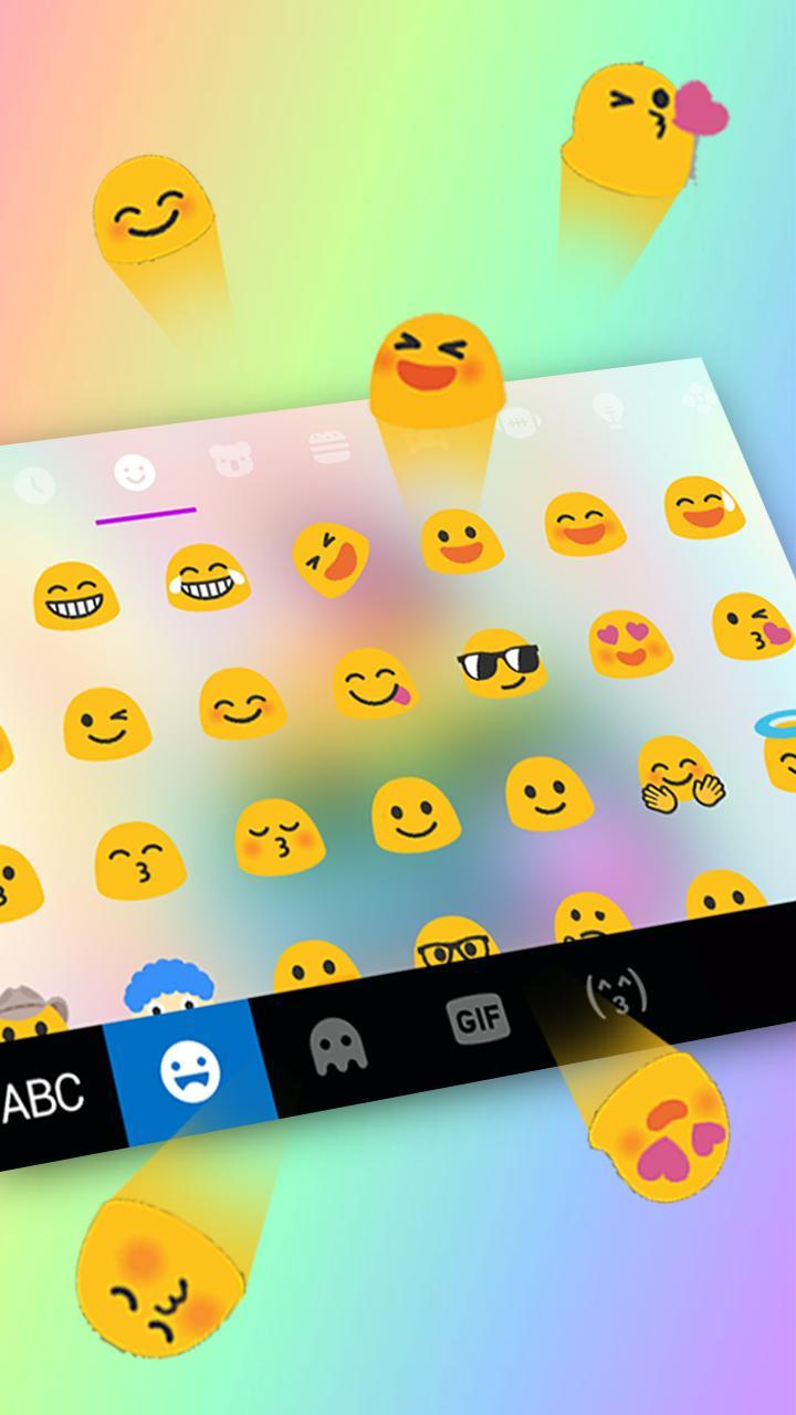 Скриншот тема для клавиатуры Rainbow Unicorn Poop