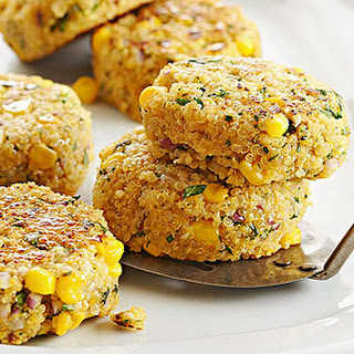Chimichurri Quinoa and Corn Patties