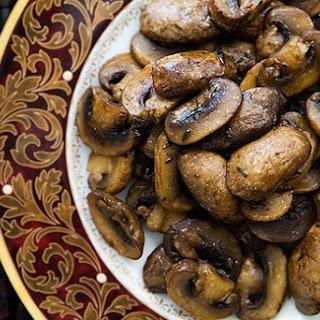 Marsala Glazed Mushrooms.