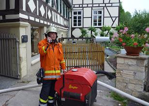 Photo: Wasserentnahme an der Schlossmühle