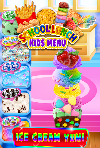 School Lunch Food - Kids Menu Pizza & Ice Cream 1.1 screenshots 3