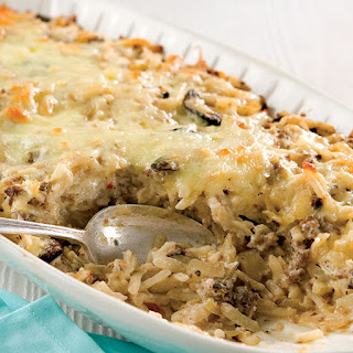 Hash Brown, Sausage, and Caramelized Onion Casserole.