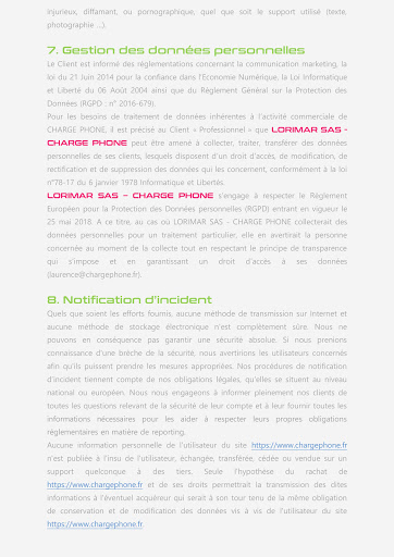PAGE 4 CGU SITE ITERNET CHARGE PHONE