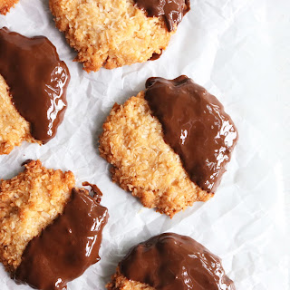Chocolate Dipped Coconut Cookies.