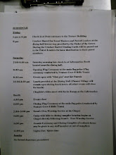 Photo: My copy of the sched; I gave all my paper copies to the SPL & PLs