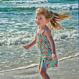 A day in January at Siesta Beach by Joe Saladino - Babies & Children Children Candids ( water, sand, girl, waves, ocean, beach, surf )