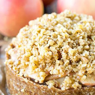 Raw Deep Dish Apple Torte With Walnut Crumble [Vegan, Gluten-Free].