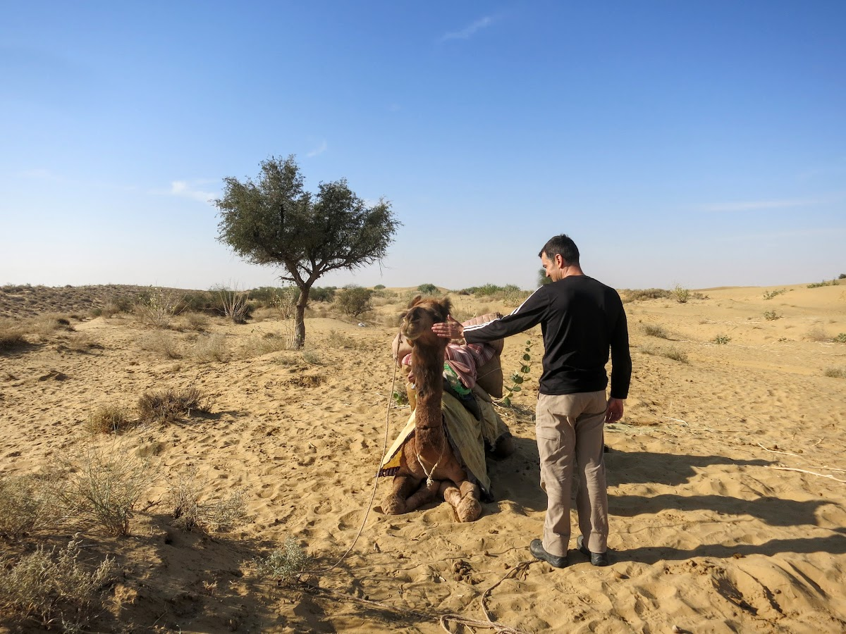 India. Rajasthan Thar Desert Camel Trek. Everyone deserves a morning cheer