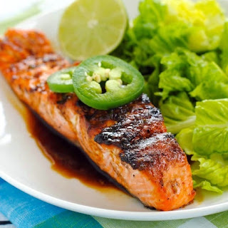 Grilled Salmon with Sweet Jalapeño Glaze