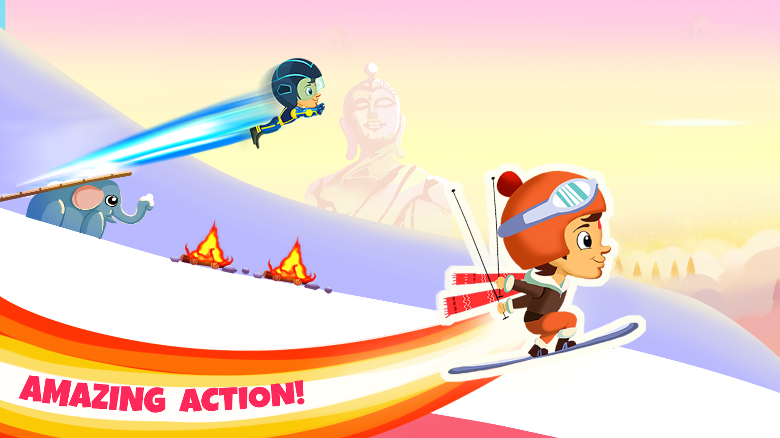 Chhota Bheem Himalayan Game- screenshot
