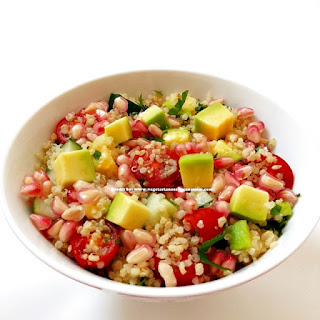 Quinoa Salad with Avocado and Pomegranate.