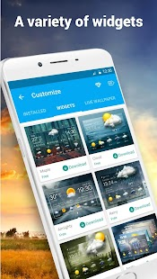 Clock &Weather widget daily forecast free- screenshot thumbnail