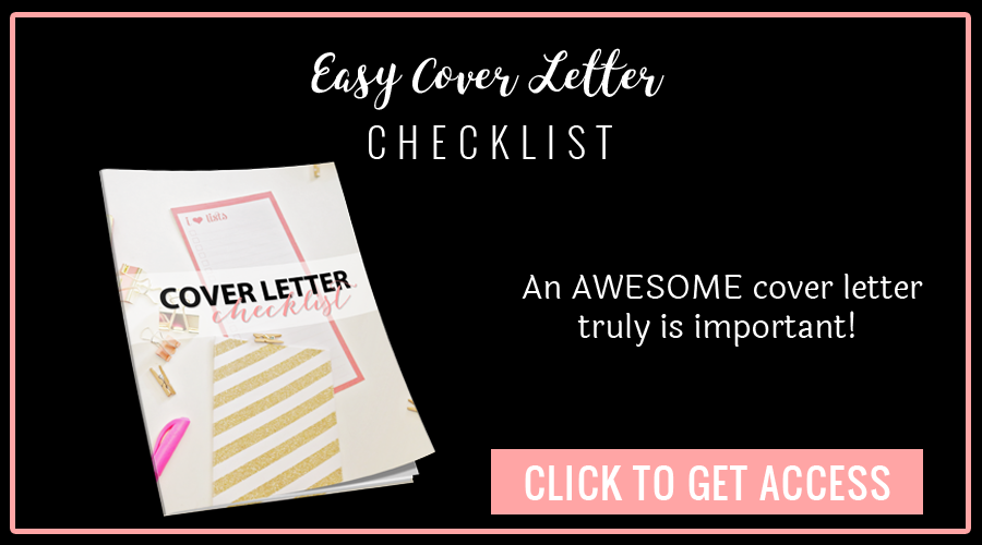reapply cover letter checklist