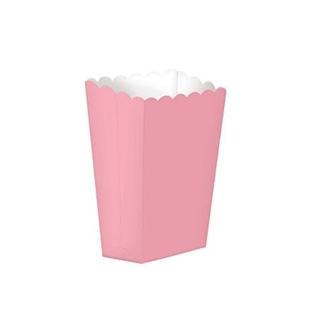 Popcornboxar - Ljusrosa