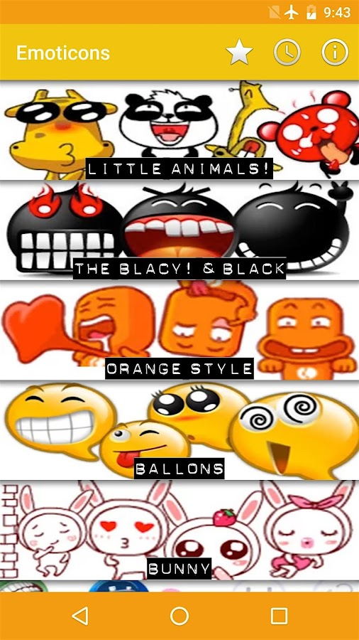 Emoticons for Chats- screenshot
