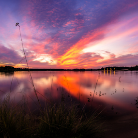 Water sunset by Richard Wright - Landscapes Waterscapes ( water,  )