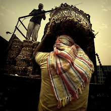 Photo: I was lucky to happen upon a wholesale dried fish market one morning, while trucks, loaded with thousands of dried fish bales, were being unloaded for the day's trading. Mumbai, India. www.michiel-delange.com #streetphotography  #streetphotographers  #india  #mumbai
