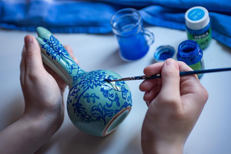 Ceramica blu di Dariagufo