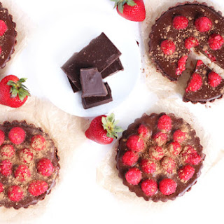 No Bake Chocolate Raspberry Tarts.