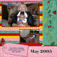 Photo: 8/27/06 - As soon as I downloaded this special Sunday freebie Quick Page from Digital Freebies (design by Eva Kipler), I knew exactly what I would use.  I had some pictures of Kaleya in one of my favorite outfits at that age and it had ladybugs on it!