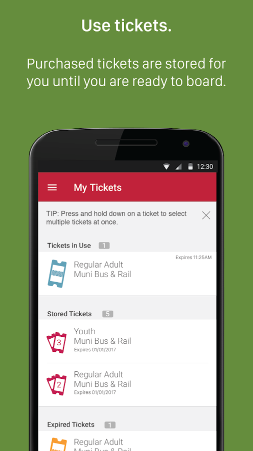 MuniMobile- screenshot