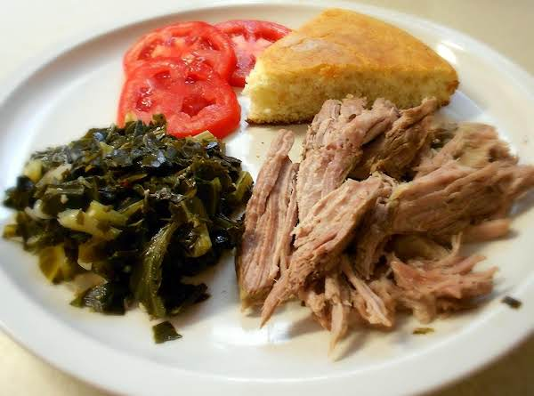 Slow Cooker Smoked Pork And Greens Recipe
