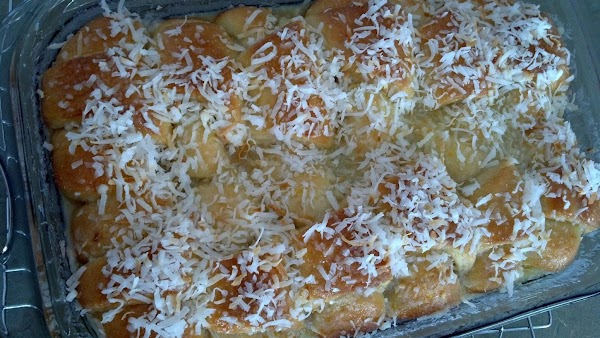 Combine 1 1/2 cups sugar, 1 1/2 cups coconut and orange zest.  Knead...