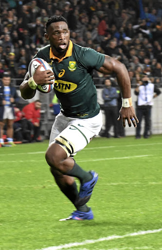 Giving his all: Siya Kolisi often shines in the green-and-gold jersey, and the hope is he can produce another stellar performance on Saturday. Picture: GALLO IMAGES
