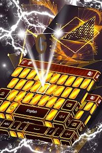 Klávesnice Neon Gold - náhled