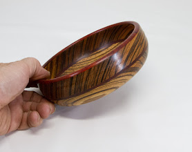 "Photo: Mike Colella 7"" bowl [assorted woods]"