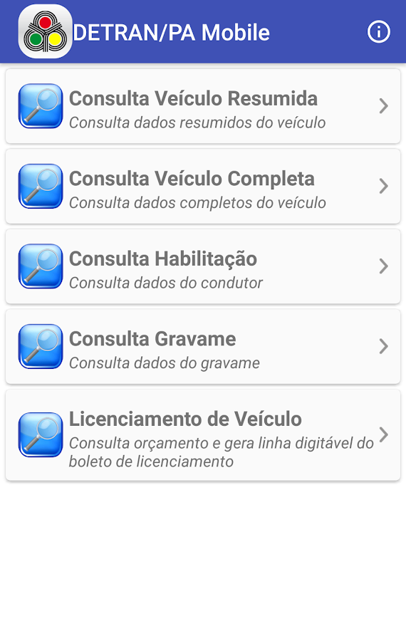 DETRAN/PA Mobile- screenshot