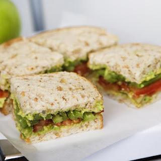 Avocado, Celery and Tomato Sandwiches.