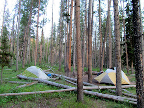 Photo: Setting up camp