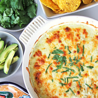 Easy Green Chile Chicken Enchilada Casserole.
