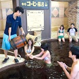 Coffee is being provided at the Yunessun Water Park in Hakone, Japan in Hakone, Kanagawa, Japan
