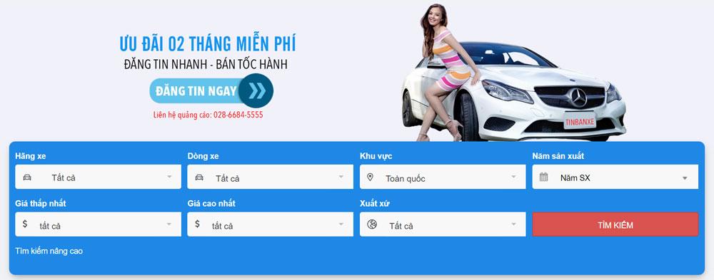 Tinbanxe.vn - trang web mua bán ô tô uy tín trong năm 2020 3